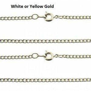 White or yellow plated curb chains 18""